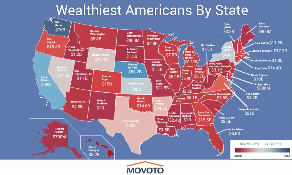 Richest Americans by State