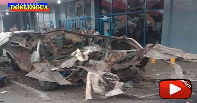 Dos heridos tras explotar un vehículo en una gasolinera de Barquisimeto