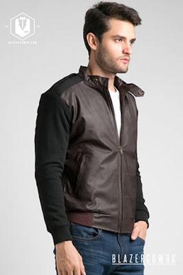 blazer cowok blazercowok.com jaket korean jas pria sk51 brown b