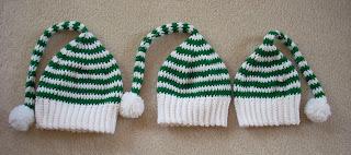 Crochet Striped Elf Hat