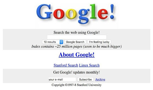 Primer Buscador de Google 1997
