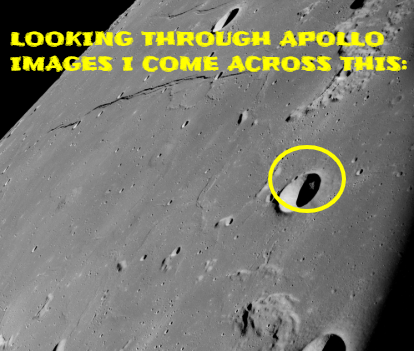 The old Apollo Moon images are very odd indeed with this one having Alien technology in a crater.