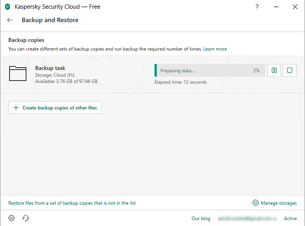 Kaspersky Backup Restore Solution