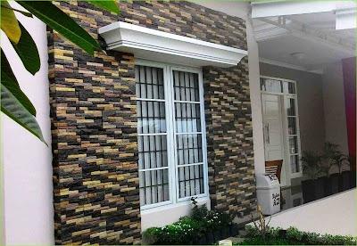 Model Dinding Teras Rumah Minimalis 2019 Dengan Pesona Batu Alam Yang Lebih Natural Dan Alami 1