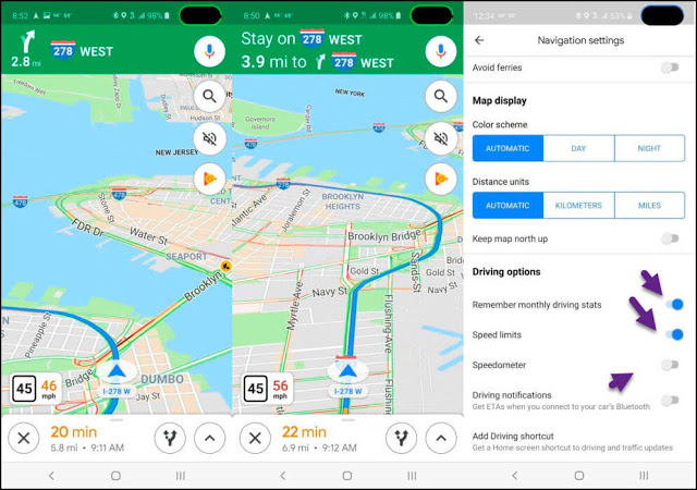تطبيق خرائط غوغل سيعرض عليك الآن سرعتك في القيادة على شاشة هاتفك وإليك طريقة تفعيله