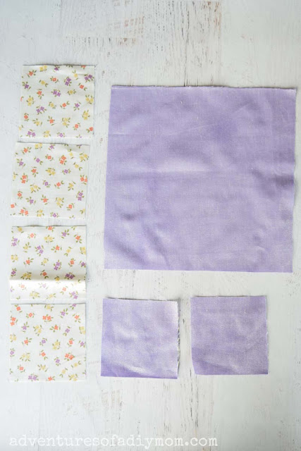 pieces of fabric for quilt block