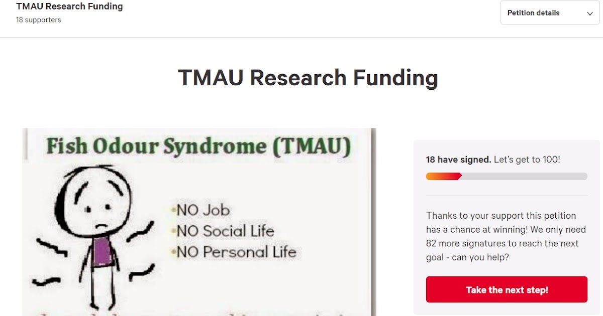 The MEBO Blog: Petition for TMAU research funding