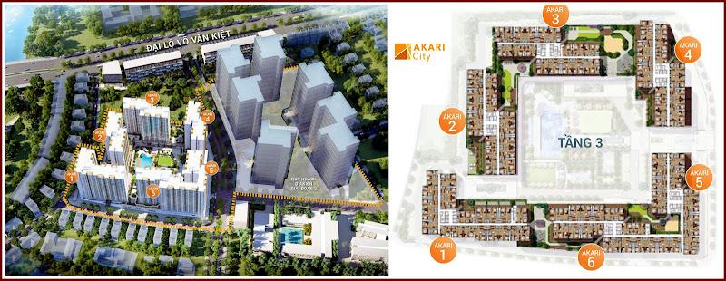 thiết kế mặt bằng căn hộ Akari City