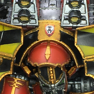 Adeptus Titanicus Legio Ignatum Warlord Titan WIP - upper carapace detail