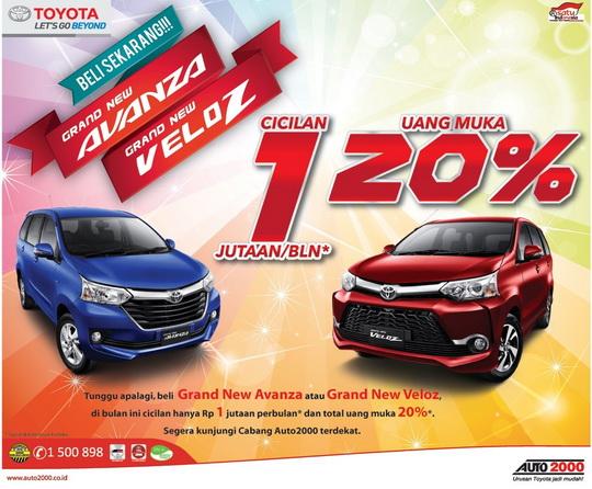 Harga Grand New Avanza Tahun 2016 Toyota Yaris Trd 2014 Dijual Dp 20 Angsuran 1 Jutaan Di Medan Penghujung 2015 Ini Auto 2000 Meluncurkan Program Cicilan Terbaru Demi Memenuhi Kebutuhan Anda Yaitu