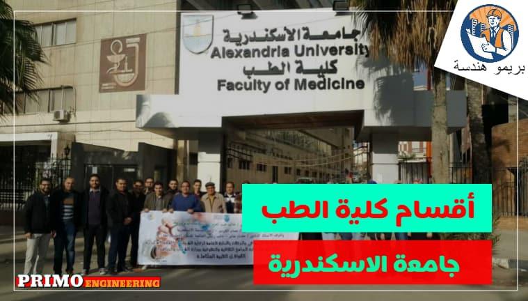 نظام الدراسة في كلية الطب جامعة الاسكندرية واقسام الكلية ومجالات عمل الخريجين