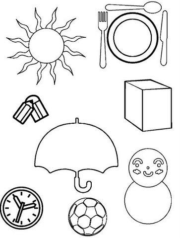 El Rincón De La Educadora Preescolar Dibujos De Figuras Geometricas