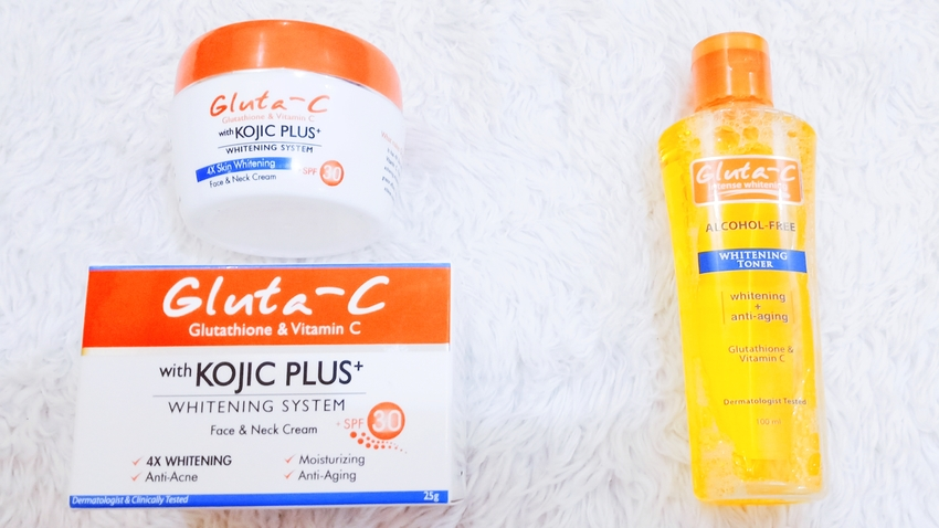 SKINCARE REVIEW   Gluta-C: Glutathione and Vitamin C with Kojic+ Whitening System Face & Neck Cream and Intense Whitening Face & Body Soap, and Alcohol-Free Toner (by @TheGracefulMist   www.TheGracefulMist.com) - Top Arts, Beauty, Fashion, Health, Lifestyle, Skin Care Filipina Blogger in Quezon City, Metro Manila, Philippines