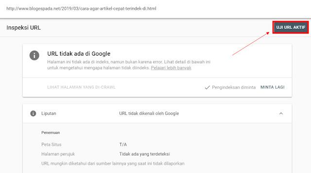 Cara Agar Artikel Cepat Terindex di Google (Update 2019)