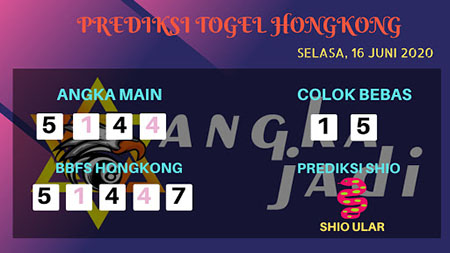Prediksi Togel Hongkong Selasa 16 Juni 2020 - Bocoran Angka