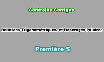 Controles Corrigés Angles Orientés et Repérage Polaire Première S PDF