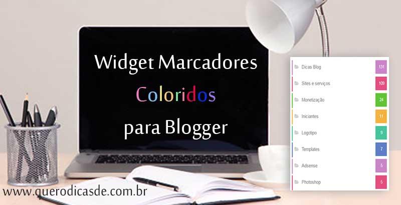 Widget Marcadores Coloridos para Blogger