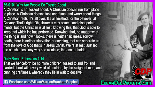 A Christian is not tossed about - William Branham