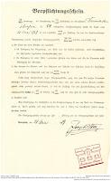 Bensheimer Häuser - Historisches Dokument über die Straßenreinigungsgebühren in Bensheim 1919.