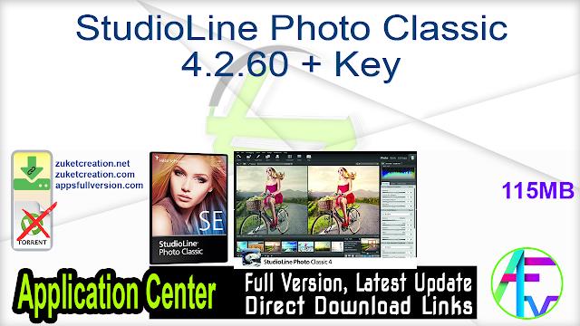 StudioLine Photo Classic 4.2.60 + Key