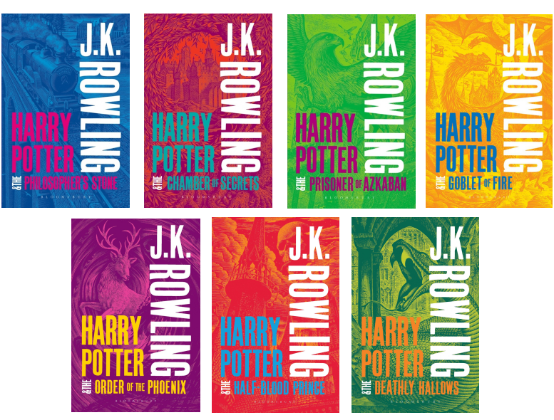 Andrew Davidson Harry Potter UK Book Covers