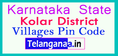 Kolar District Pin Codes in Karnataka State