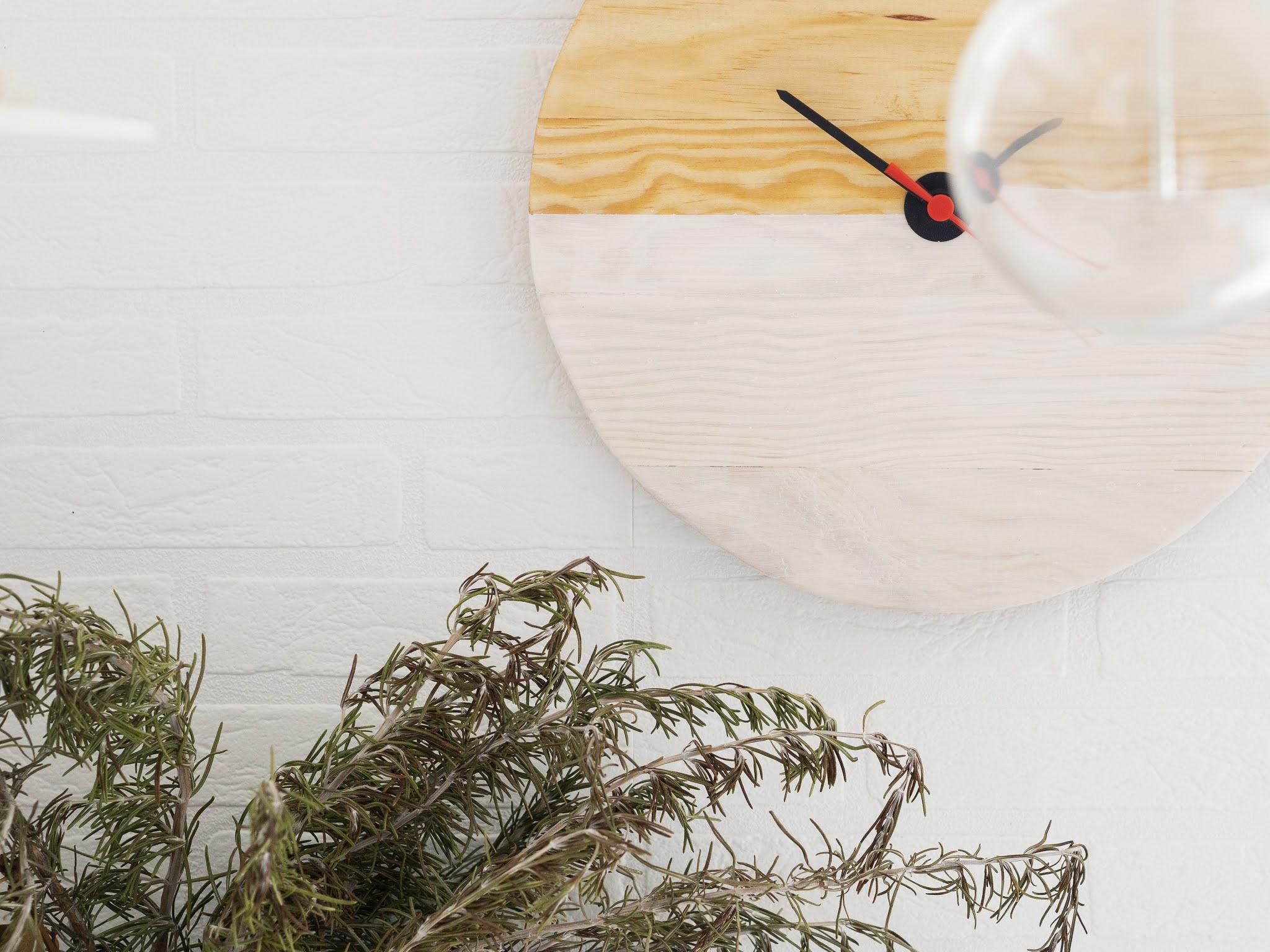 DIY Reloj de madera para nuestra cocina1