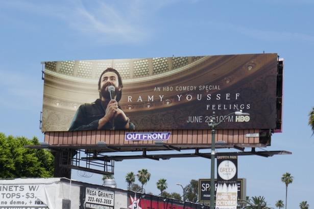 Ramy Youssef HBO Feelings standup billboard