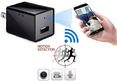 Wireless Spy Camera - Mini Live Video IP WIFI Cam with Motion Activated Recording - Minicute