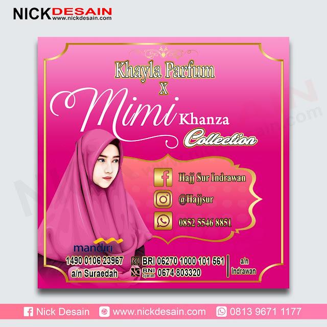 Contoh Desain Spanduk Khayla Parfum - Percetakan Murah Tanjungbalai