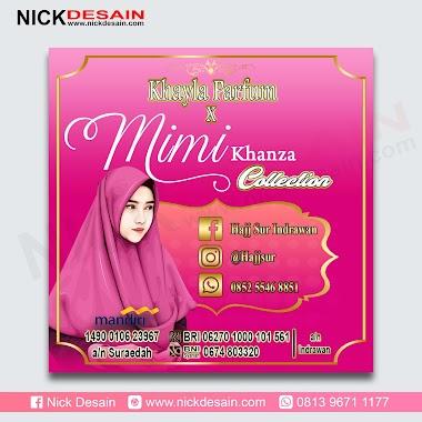 Contoh Desain Spanduk Khayla Parfum Warna Pink Tua - Percetakan Murah Tanjungbalai