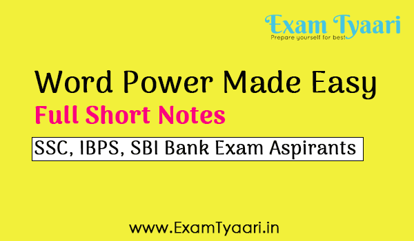 Free-Book Word Power Made Easy Book Full Short Notes [PDF Download] - Exam Tyaari