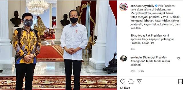 Ace Hasan Menghadap Presiden Jokowi, Tanda Masuk Kabinet?