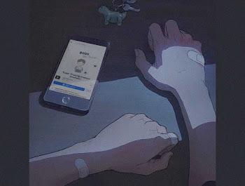 Ghép ảnh trang cá nhân vào khung điện thoại tâm trạng