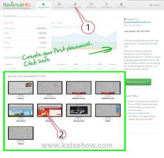 Revenue Hits से पैसे कैसे कमाए Revenue Hits के एड्स ब्लॉग में कैसे लगाएं