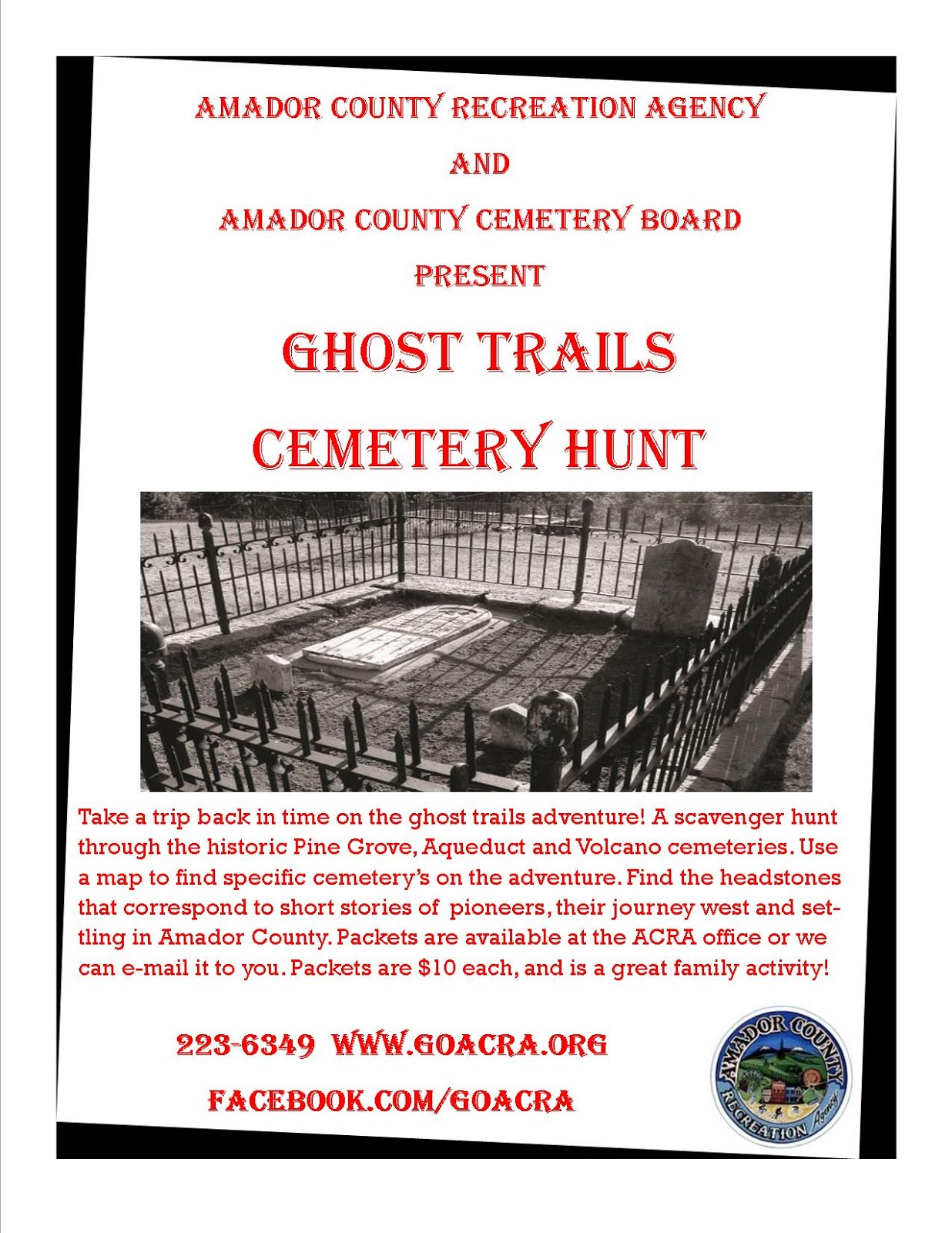 Ghost Trails Cemetery Hunt