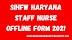 SIHFW Haryana Staff Nurse Offline Form 2021
