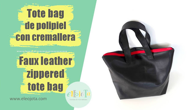 tutorial tote bag polipiel con cremallera