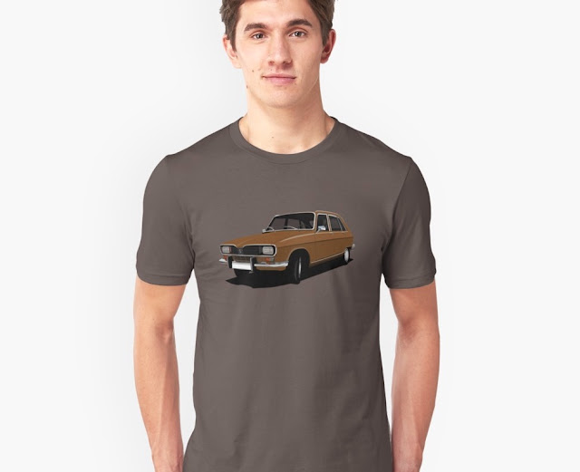 Renault 16 T-shirt - seventies retro car