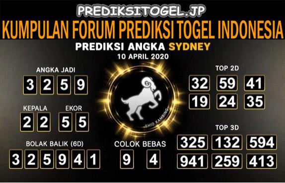 Prediksi Togel Sidney Jumat 10 April 2020 - Prediksi Togel JP