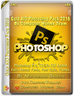 Gold AIO Photoshop Pack [2016] ISO [689.7 MB]