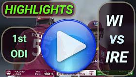 WI vs IRE 1st ODI 2020