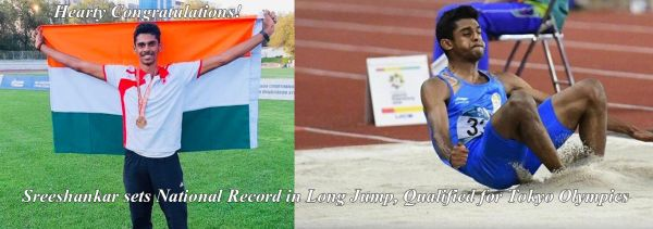 Sreeshankar Sets National Record in Long Jump and Qualifies for Tokyo Olympics