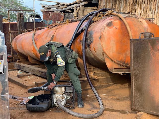 Contrabando por $96 millones en combustibles se incautaron en Uribia