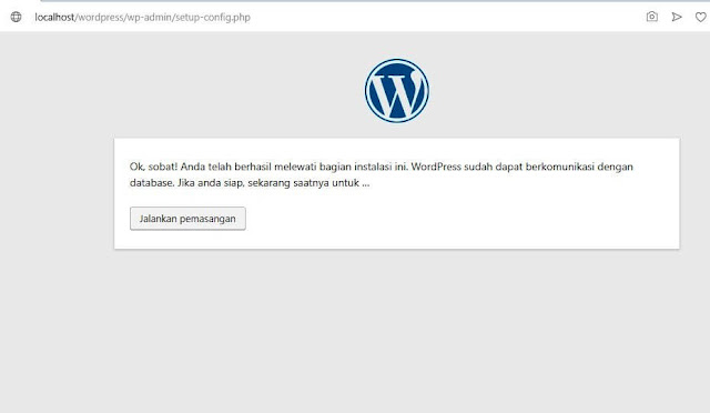 instal wordpress di localhost