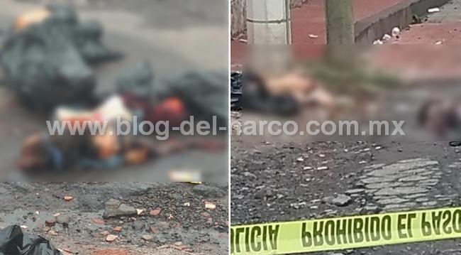 Imagenes del terror, ejecutan, descuartizan y tiran con narcomensaje a pareja en Ixtlahuaca