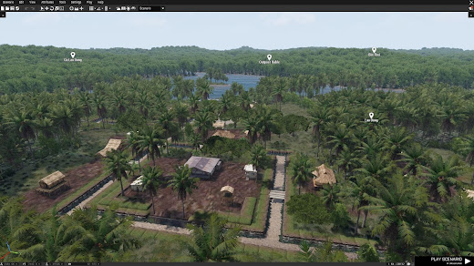Arma3用Unsungベトナム戦争MODのジャングルマップ