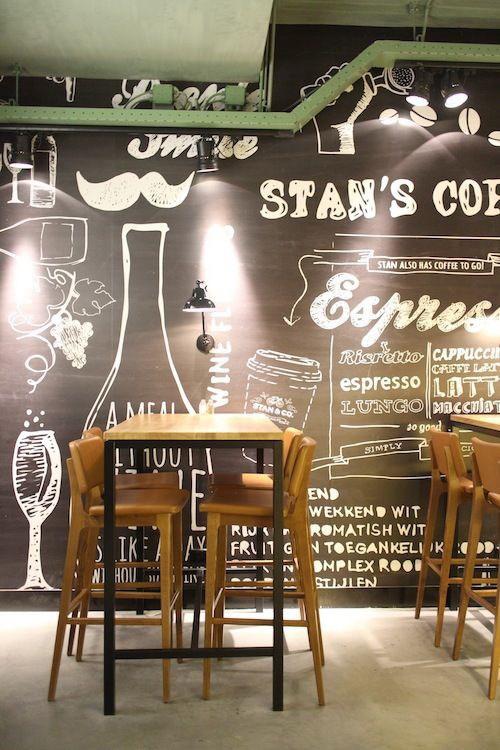 Gambar desain kamar seperti cafe contoh o for Mural hitam putih