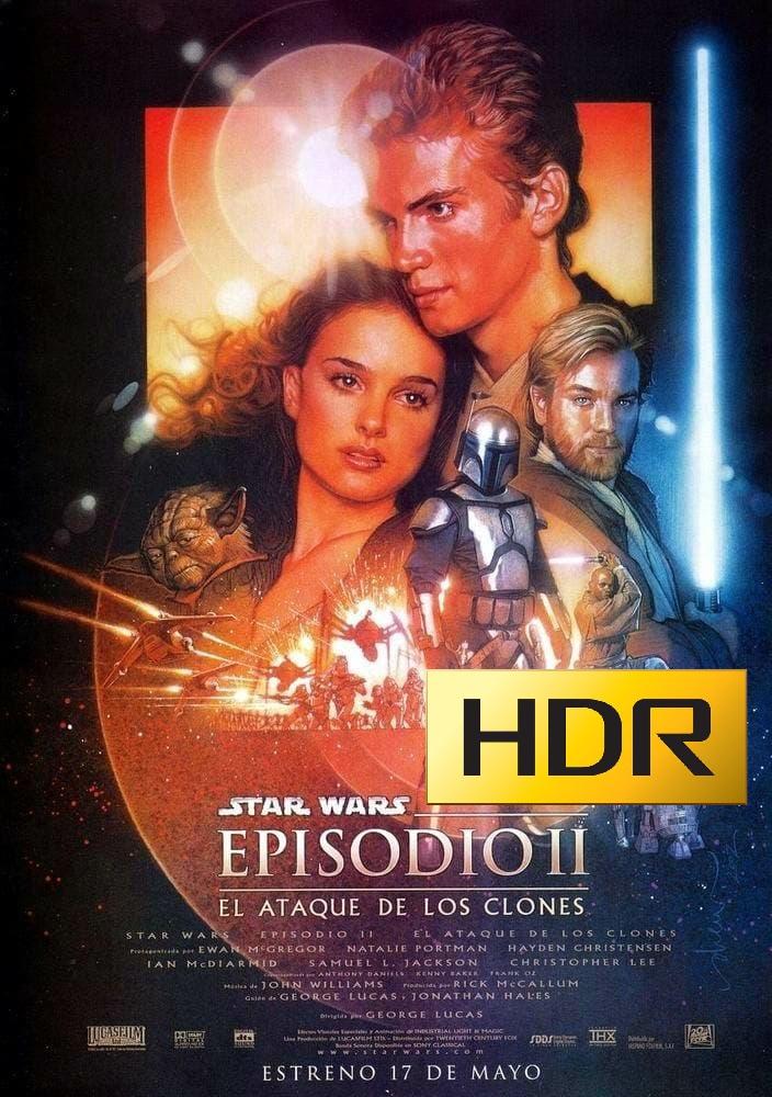 Star Wars: Episodio II (2002) 4K UHD HDR Webrip Latino