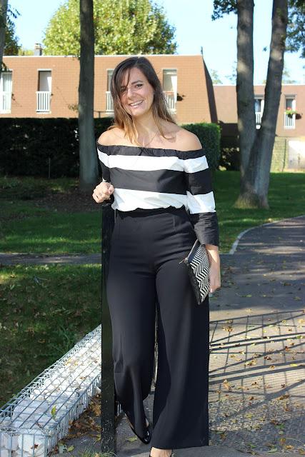 total look noir, pantalon suncoo les petites bulles de ma vie